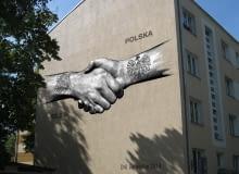 Mural na Dni Belgijskie w Warszawie