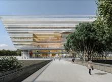 Zwycięski projekt biblioteki w Szanghaju, projekt: Schmidt Hammer Lassen Architects