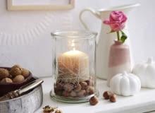 szklany świecznik, lampion
