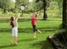 Zabawki i gry ogrodowe. Zestaw do gry w badmintona, dzieci, zabawki ogrodowe, gry ogrodowe, zabawa