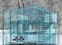 projekt, dom, włochy, szkło