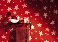 Gwiazdki malowane według szablonu, farbą brokatową świecącą w ciemności