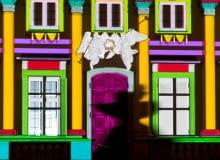 Mapping na fasadzie Pałacu Wilanowskiego