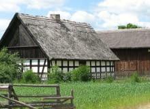chałupa i stodoła z Dzierżążna Wielkiego poł. XIX w.,