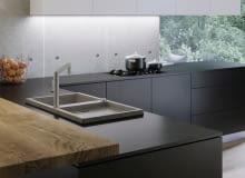 Na bazie inspiracji nowoczesną architekturą zaprojektowano zlewozmywaki o modnym wyglądzie betonu.
