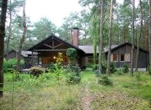 Drewniany domek rekreacyjny nad Zalewem Zegrzyńskim