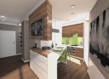 Mieszkanie ze skosami 49 m2, projekt arch. Łukasz Milewski ARB
