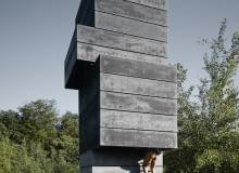 Jednoosobowa sauna z betonu