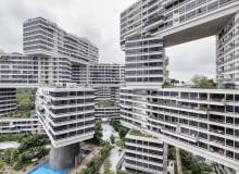 Interlace: apartamentowiec w Singapurze zaprojektowany przez OMA i Ole Sheerena. Wertykalna wioska złożona z 31 bloków poukładanych na sobie niczym klocki wokół zielonych dziedzińców.