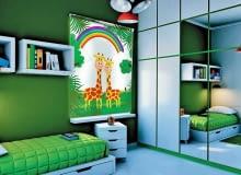 Fotoroleta Żyrafy, zaciemniająca, mocowana na drążku, 70 x 100 cm, 235 zł, fotorolety.com