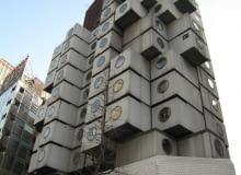 Kisho Kurokawa - budynek kapsułowy Nakagin w Tokio