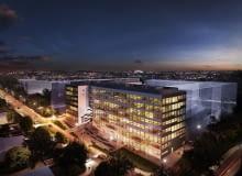 Nowy miasteczko biurowe PIN Park we Wrocławiu, projekt: AP Szczepaniak Budowa pierwszego z biurowców rozpocznie się na przełomie II i III kwartału 2017 roku