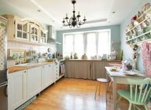 aranżacje kuchni, kuchnia w stylu retro, meble kuchenne