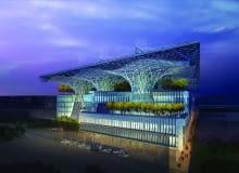 Masdar Headquarters w Abu Dhabi proj. Adrian Smith + Gordon Gill Architecture.