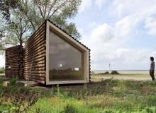 Flake House projektu OLGGA, dom jednorodzinny, architektura, przenośne kontrukcje