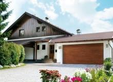 brama garażowa, dom, podjazd, garaż w bryle