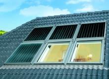 Kolektory mogą być montowane zarówno nad ipod oknami dachowymi, jak i z ich boków