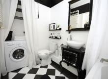 Łazienka po metamorfozie - pomalowano płytki podłogowe i ścienne