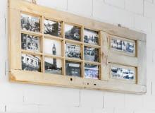 Ramka na zdjęcia ze starych drzwi