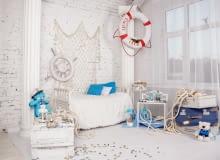 Styl marynistyczny w dziecięcym pokoju