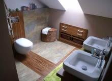 łazienka na poddaszu,poddasze,łazienka