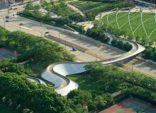 Most dla pieszych w Parku Millenium w Chicago