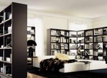 biblioteki, półki, regały, meble