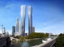wieżowce, paryż, norman foster, wieżowiec, francja, la defense, Hermitage Plaza