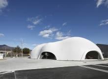 blob, japonia, pawilon, restauracja, architektura organiczna