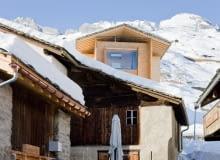 Alpejski dom zaprojektowany przez Petera Zumthora.