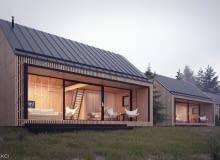 Domy w Bieszczadach
