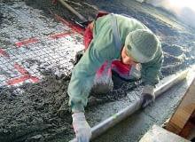 Wykonywanie podkładu z betonu