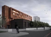 Rozbudowa budynku przy ulicy Wilczak w Poznaniu - wizualizacja