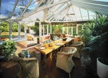 Domestic conservatory, interior view