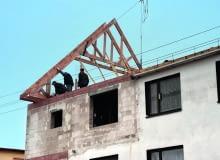 rozbudowa domu, więźba dachowa