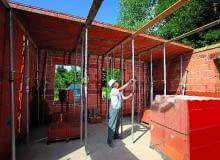 29.07.2009 WIAZOWNA ( WIAiZOWNA ) - BUDOWA DOMU Z PUSTAKA POROTHERM FIRMY WIENERBERGER . UL KOSCIELNA FOT. BRUNO FIDRYCH +48 600 83 82 82