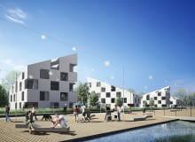 koncepcja urbanistyczno - architektoniczna zagospodarowania terenu dawnej cementowni Jaworzno - Szczakowa pracowni Medusa Group