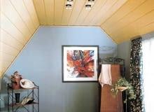 Sufit podwieszany z paneli - drewnianych lub drewnopochodnych, stalowych, aluminiowych lub z tworzywa sztucznego