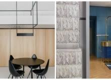 Od lewej strony wnętrze apartamentu w Krakowie zaprojektowane w pracowni MUS ARCHITECTS oraz wnętrze agencji reklamowej 'Hand made' autorstwa Beza Projekt.