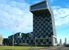 projekt, rotterdam, wieża, modernizacja, kontener, holandia, neutelings riedijk architects, architektura kontenerowa, szkoła, port, budynek