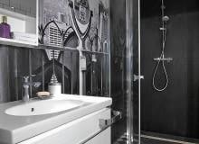 łazienka, ściany w łazience, aranżacja łazienki