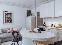 mieszkanie w skandynawskim stylu, małe mieszkanie, jak urządzić małe mieszkanie, 5