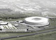 stadion, euro 2012, wrocław, lampion, jks architekci, projekt, centrum handlowe, urbanistyka