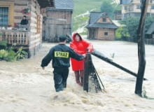 Kiedy wylewa rzeka, właściciele domów są bezradni