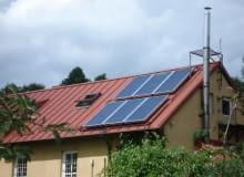 dach, kolektory słoneczne