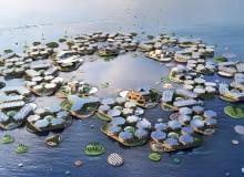 Oceanix City - pływające miasto. Proj. BIG (Bjarke Ingels Group).