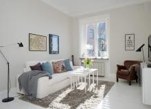 styl skandynawski, białe wnętrza, inspiracje, salon, meble