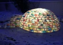 jak zbudować igloo, igloo, kolorowe igloo, tęczowe igloo