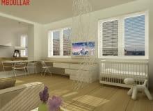 kawalerka, wnętrza, porady architekta, projekty mieszkań