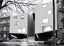proj. inż. arch. Tomasz Klata - Projekt budynku wielorodzinnego w zabudowie plombowej w Lublinie; promotor : mgr inż. arch. Marlena Wolnik